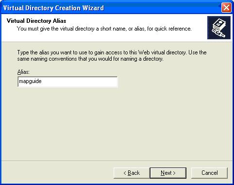 virtual directory name
