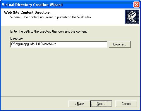virtual directory path