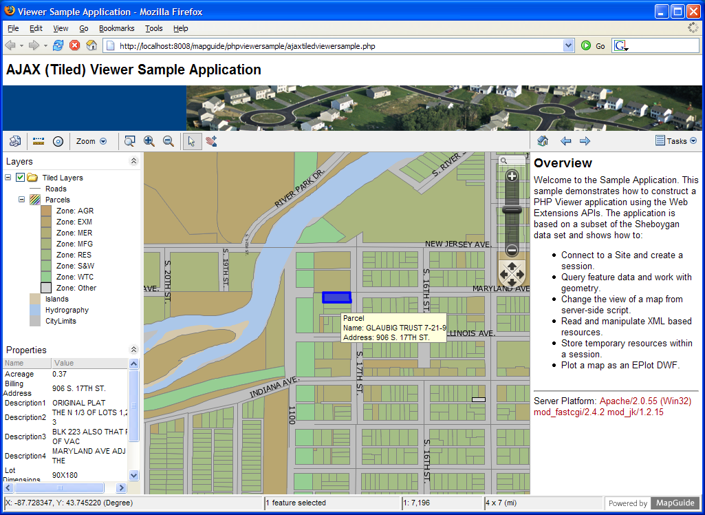 screen shot gallery mapguide open source rh mapguide osgeo org MapGuide Open Source SharePoint MapGuide ActiveX Control