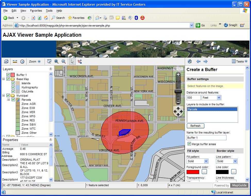 screen shot gallery mapguide open source